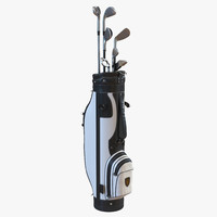 Golf Bag and Clubs 3 Black