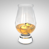 cinema4d whiskey glass