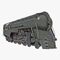 3d max nyc dreyfuss hudson steam locomotive