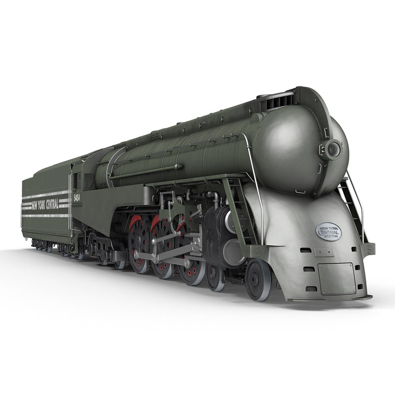 NYC Dreyfuss Hudson Steam Train Rigged 3d model 01.jpg