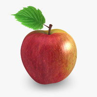 3d model realistic apple 02