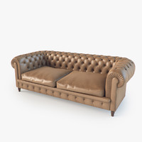 chester sofa poltrona frau 3d model