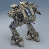 3d model rigged battle mech