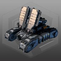 scifi tank radar mk8 3d max