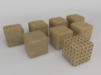 wicker puffs 3d model