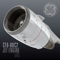3d cf6-80c2 jet engine lite model