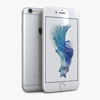 3ds max apple iphone 6s silver
