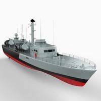 osa-ii class missile boats 3d lwo