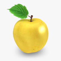 realistic apple 03 3d max