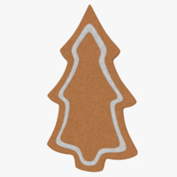 gingerbread cookie 3d model