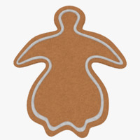 3d gingerbread cookie model