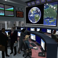 maya office building command center