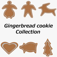 3d model pack gingerbread cookies
