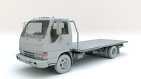 3d model isuzu flatbed truck