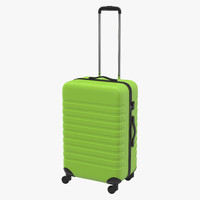 plastic trolley luggage bag 3d max