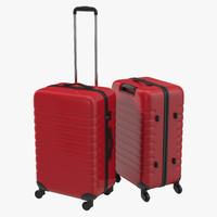 c4d plastic trolley luggage bag