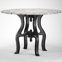 maya industrial white marble dining table