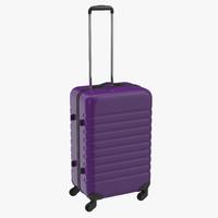 obj plastic trolley luggage bag