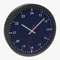 office clock blue 3d c4d