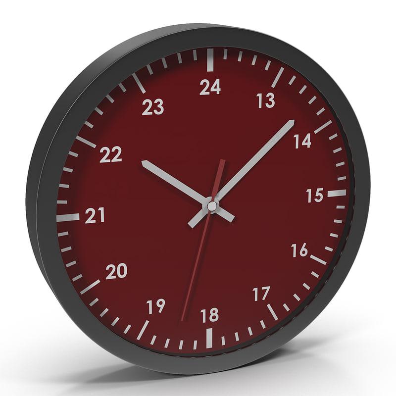 Office Clock Red 3d model 01.jpg