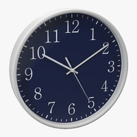 3ds max office clock 2 blue