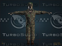 3d military soldiers model