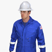 mining coveralls safety worker 3d ma
