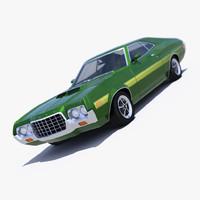 3d model gran torino 1972