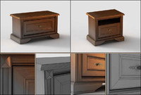 nightstand bedside table 3d max