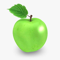 realistic apple 04 3d max