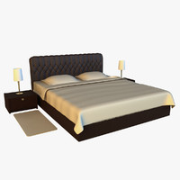 max large bed leather base