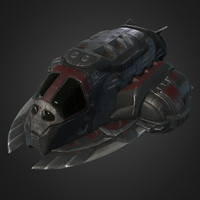 Lowpoly Pirate SpaceShip