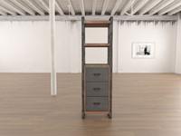 3dsmax teak book shelf 2