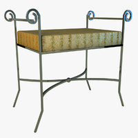 3d model of bench classical