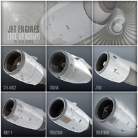 jet engines lite 3d model