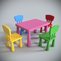 3d model ikea mammut furniture
