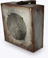 3d old loudspeaker