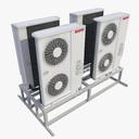 cassette air conditioner 3D models