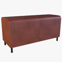 3dsmax leather banquette