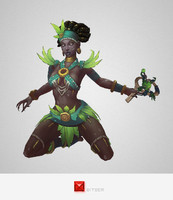 character voodoo priestess 3d ma