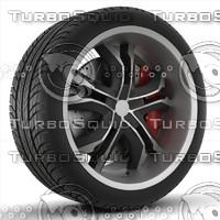 3d model of wheel rim