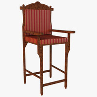 3ds max wooden chair royal style