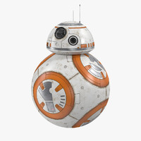 3d bb-8 modelled