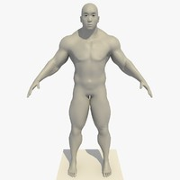 realistic asian man rigged 3d model