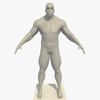 realistic african man rigged 3d model