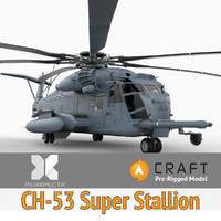 pre-rigged ch-53 super stallion 3d 3ds