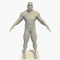 3d model realistic european man rigged