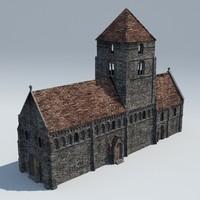 chapel medieval 3d lwo