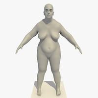 maya realistic base mesh obese
