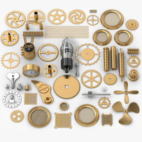 3d steampunk 50 parts model